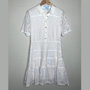 Draper James White Meadow Lace Dress